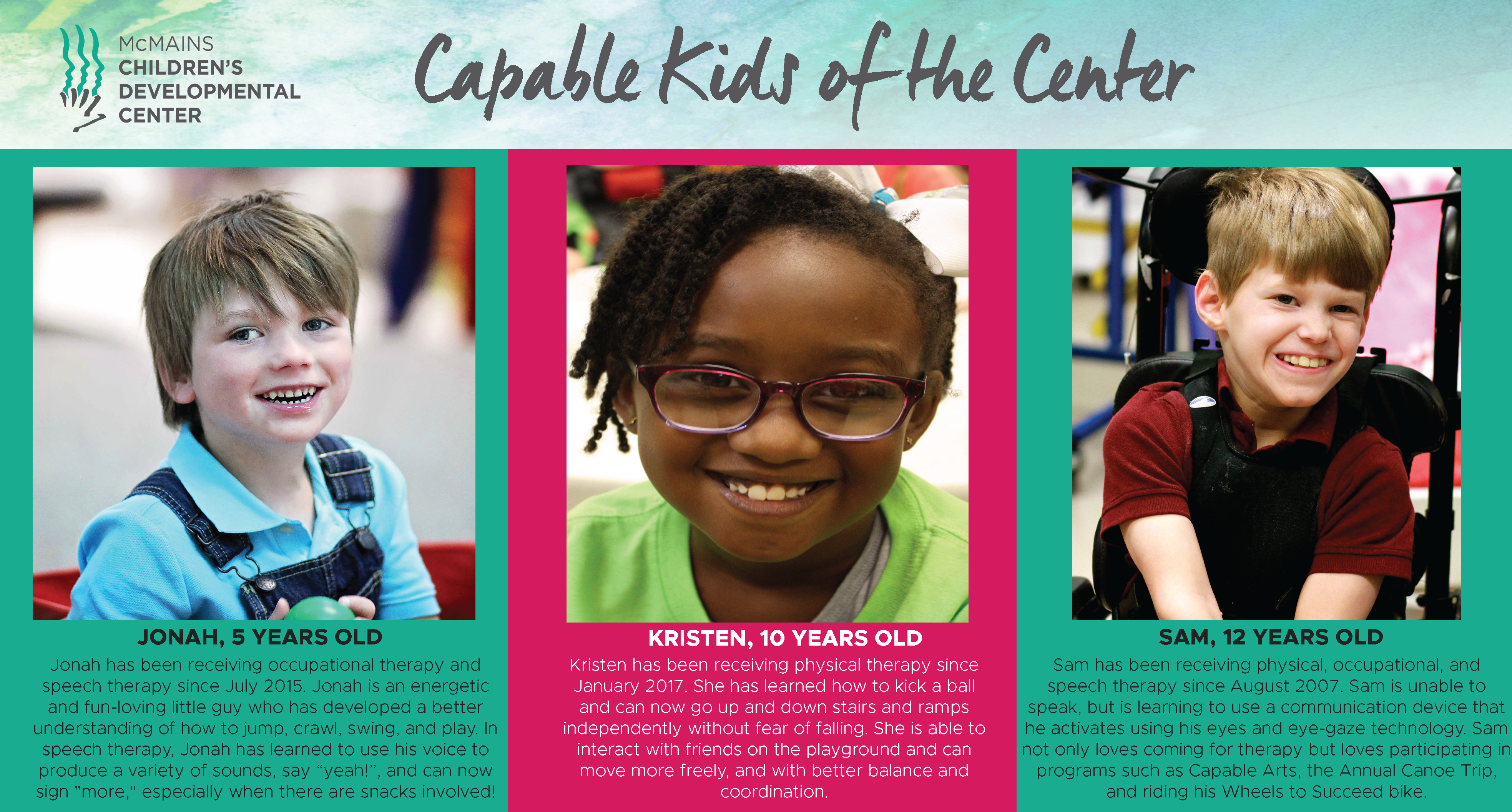Give to The Center | McMains Children's Developmental Center